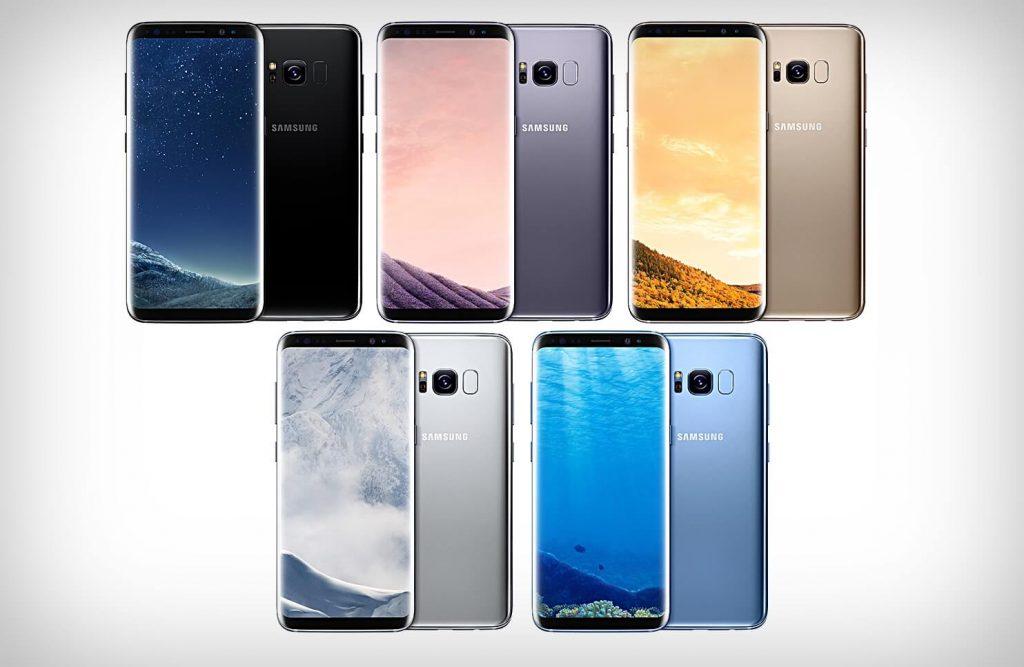 Galaxy S8 цветовая гамма